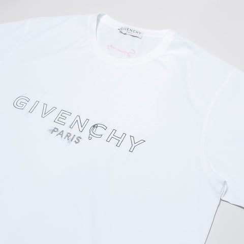 GIVENCHY SKETCH LOGO OVERSIZED T-SHIRT WHITE