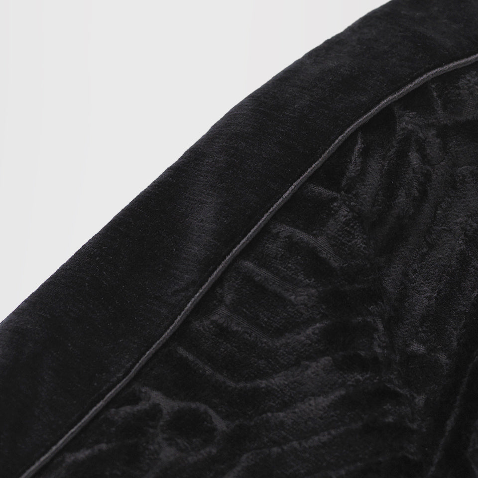 GIVENCHY EMBROIDERED PATTERN BOMBER JACKET BLACK
