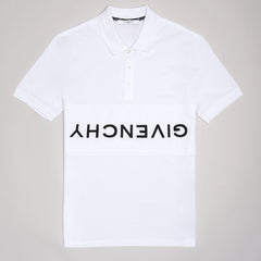 GIVENCHY REVERSE POLO SHIRT WHITE