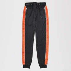GIVENCHY ELASTICATED WAIST TROUSERS BLACK/ORANGE