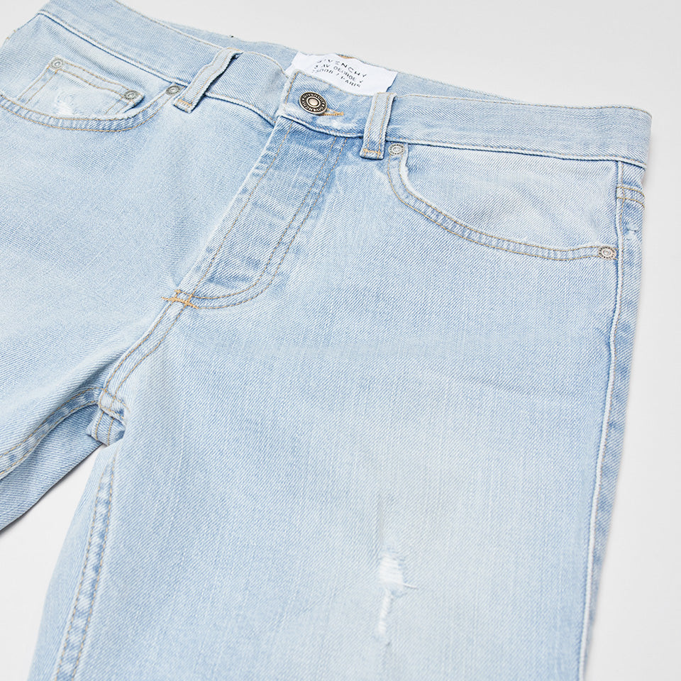 GIVENCHY DESTROYED SLIM-LEG JEANS