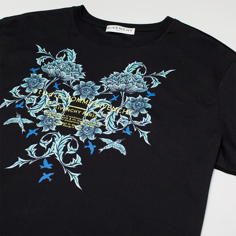 GIVENCHY STUDIO HOMME FLORAL PRINTED T-SHIRT