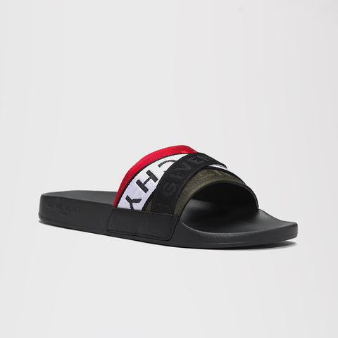 GIVENCHY 4G WEBBING SLIDES MULTI