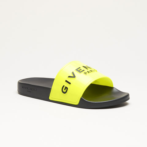 GIVENCHY 3D LOGO SLIDES BLACK/NEON YELLOW