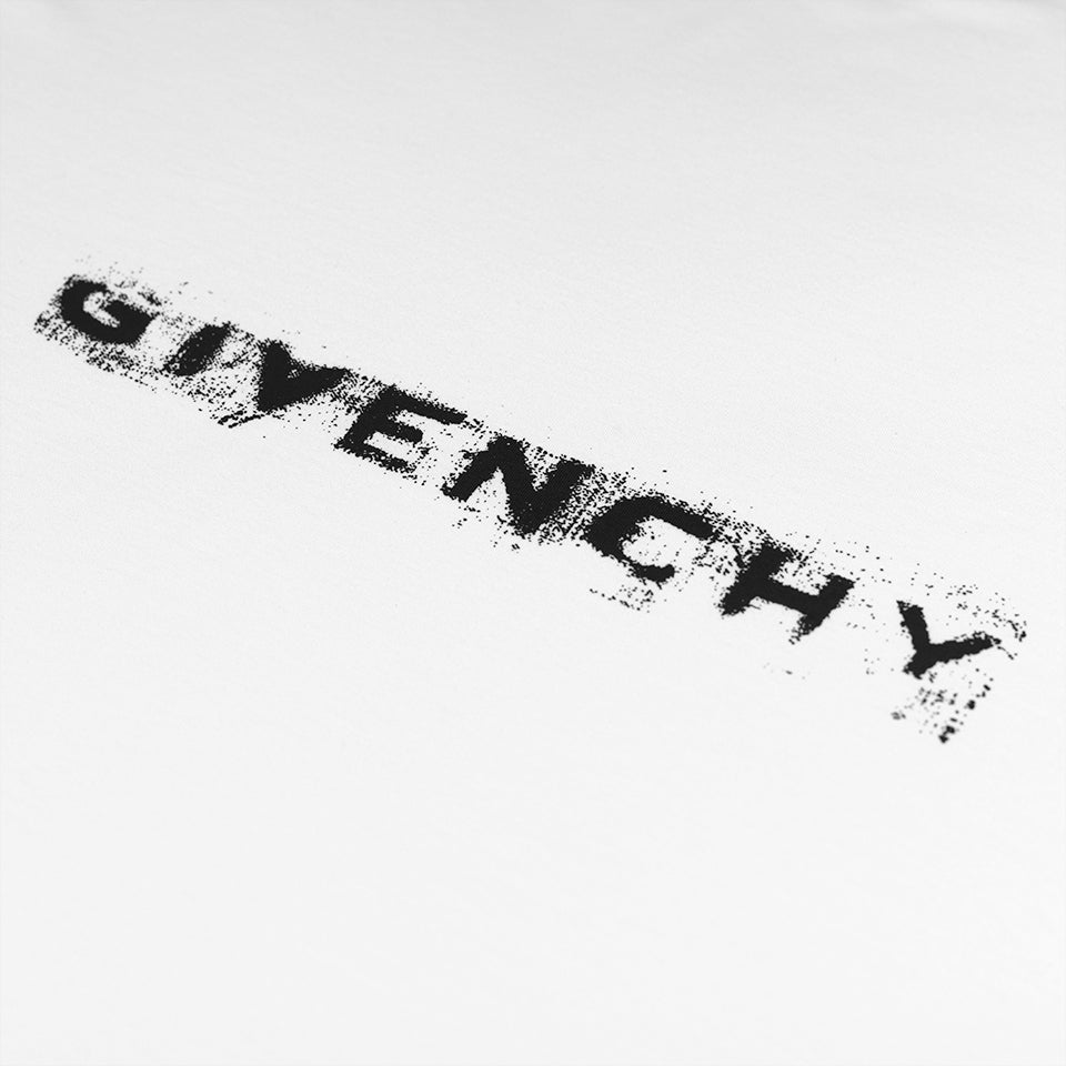 GIVENCHY LOGO T-SHIRT RELAXED FIT WHITE