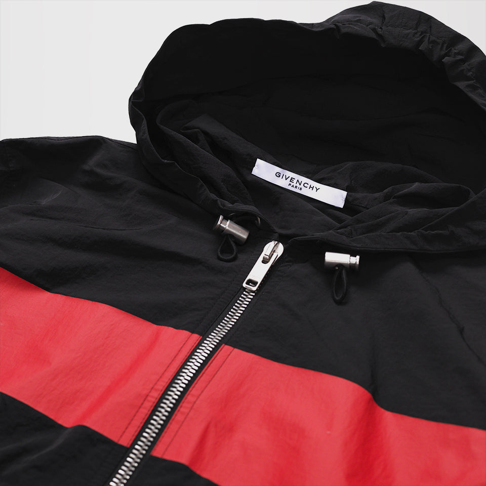 GIVENCHY GV MOTOCROSS WINDBREAKER JACKET BLACK