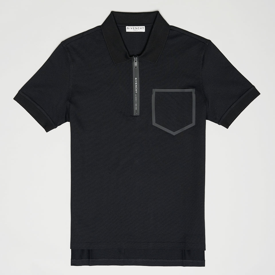 GIVENCHY ADDRESS SLIM FIT POLO BLACK