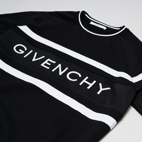 GIVENCHY LOGO CREW NECK SWEATER BLACK