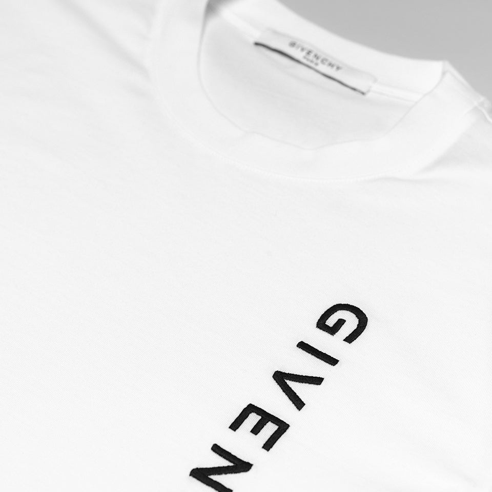 GIVENCHY EMBROIDERED LOGO T-SHIRT WHITE
