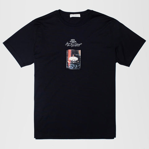 GIVENCHY EXPOSTION LOGO T-SHIRT BLACK