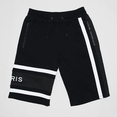 GIVENCHY LOGO-EMBROIDERED STRIPED COTTON LONG SHORTS