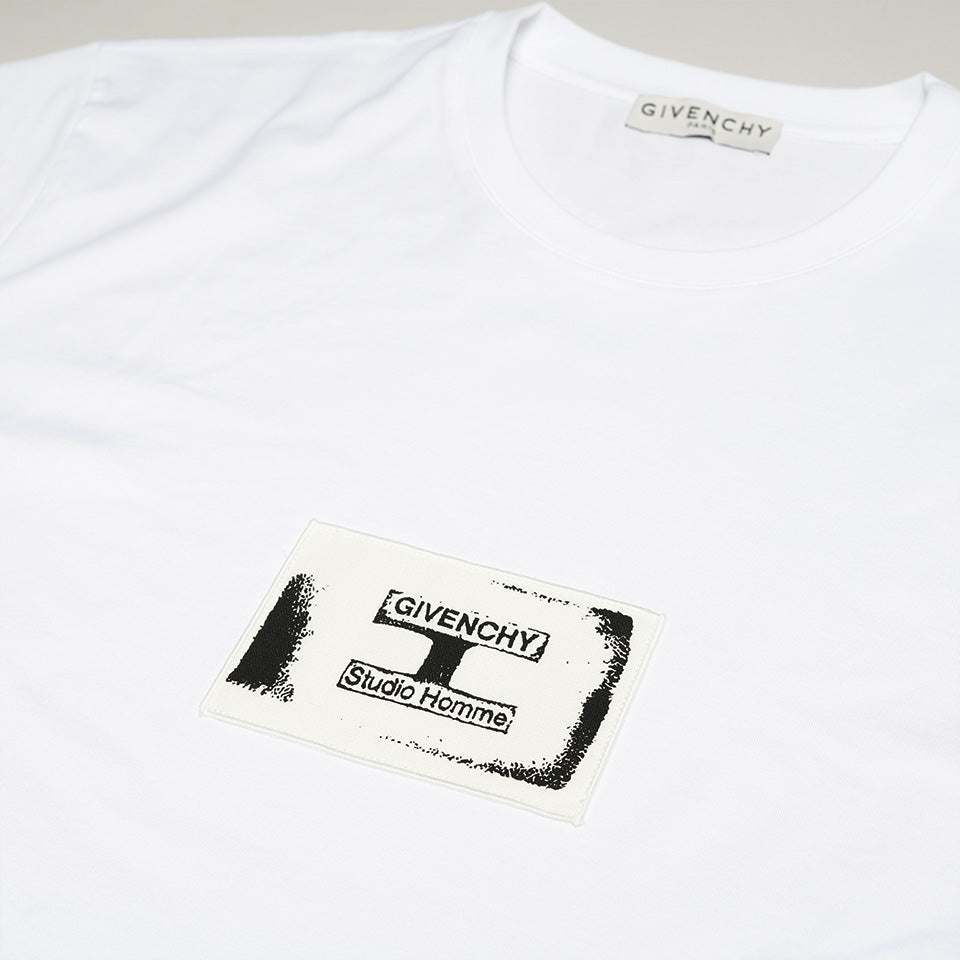 GIVENCHY LOGO PATCH T-SHIRT WHITE