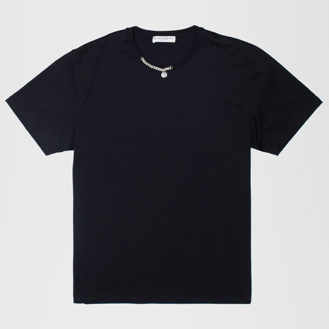 GIVENCHY CHAIN EMBELLISHED T-SHIRT BLACK