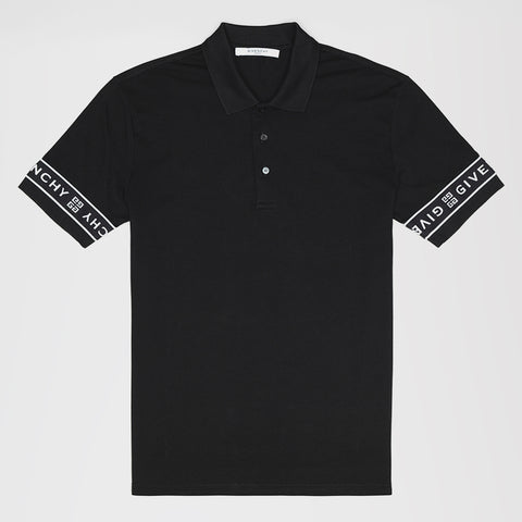 GIVENCHY 4G BAND POLO SHIRT BLACK