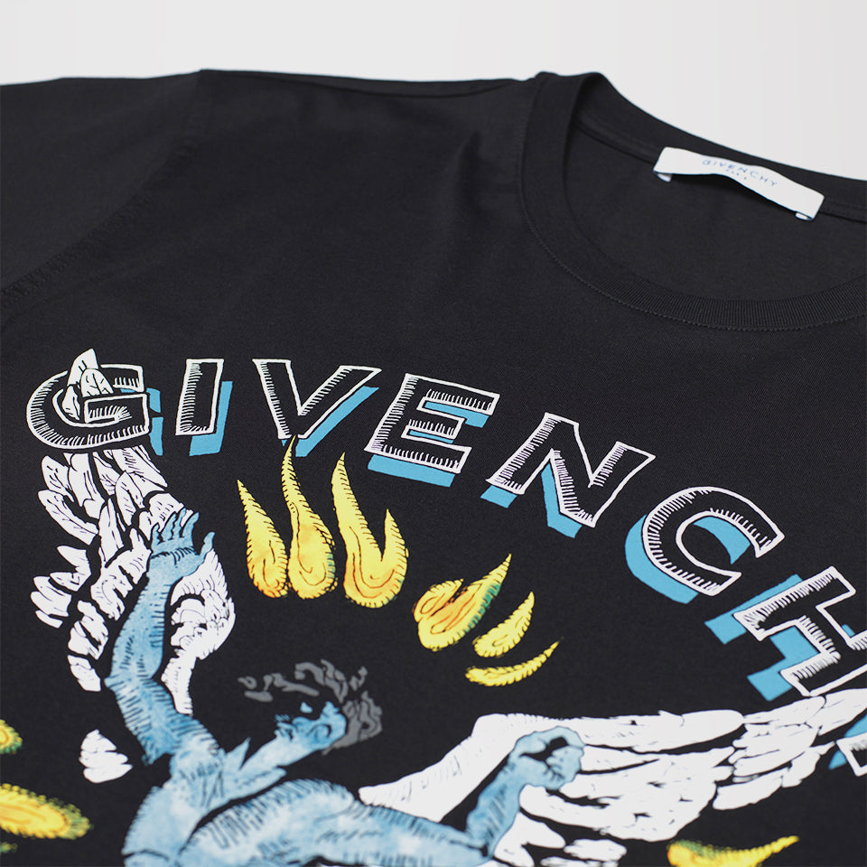 GIVENCHY ICARUS PRINT T-SHIRT BLACK