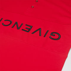 GIVENCHY REVERSE POLO SHIRT RED