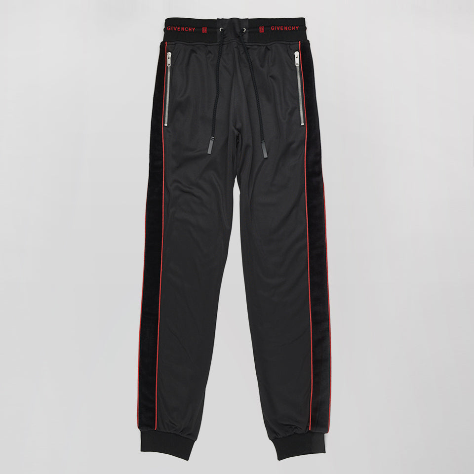 GIVENCHY LOGO TRACK PANT TROUSERS BLACK
