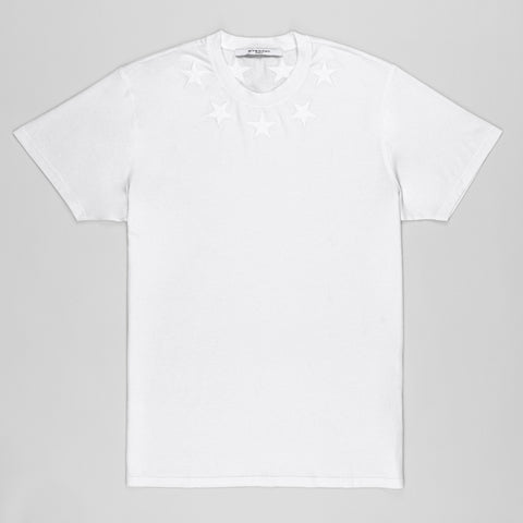 GIVENCHY STAR-APPLIQUÉ COTTON OVERSIZED T-SHIRT WHITE