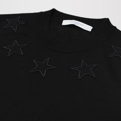 GIVENCHY STAR-APPLIQUÉ WOOL SWEATER BLACK