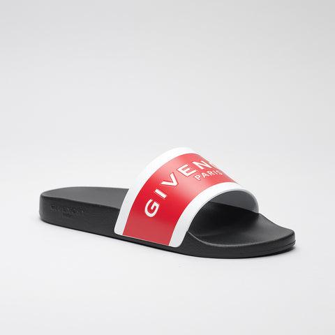 GIVENCHY LOGO EMBOSSED SLIDE RED/WHITE