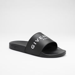 GIVENCHY LOGO SLIDES BLACK