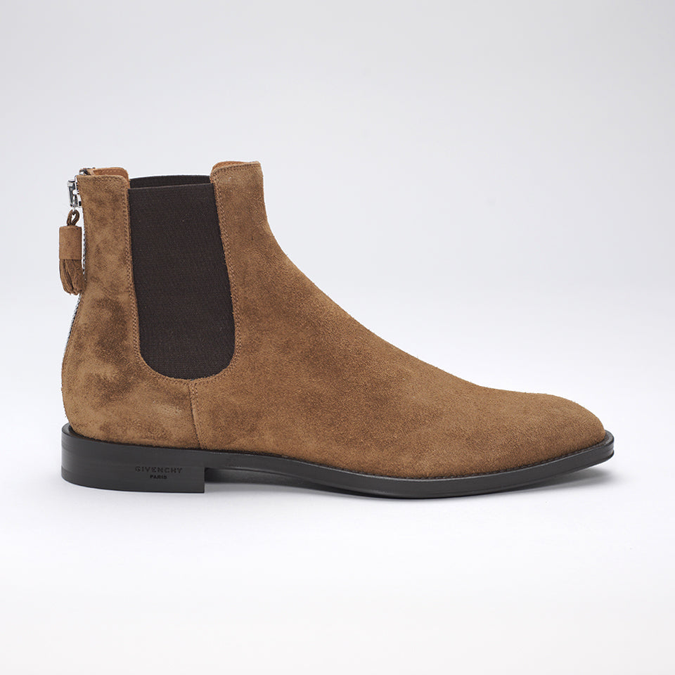 GIVENCHY CHELSEA ZIP BOOTS TAN-BROWN
