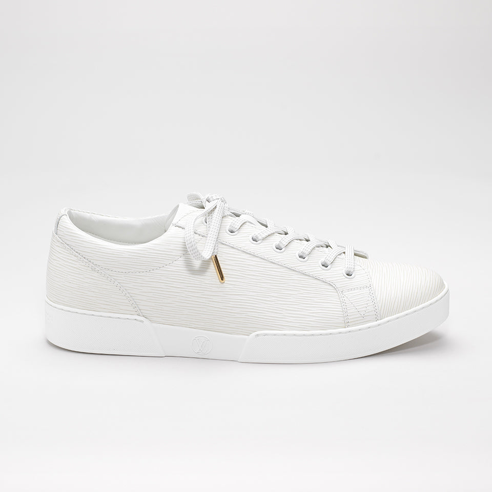 LOUIS VUITTON EPI LEATHER SNEAKERS WHITE