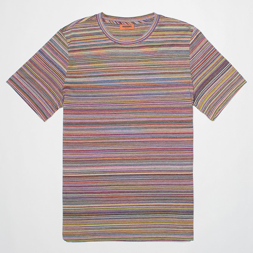 MISSONI STRIPED COTTON T-SHIRT MULTICOLOURED