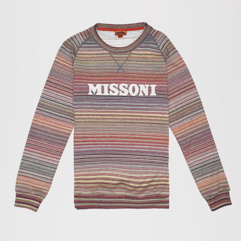 MISSONI PRINTED LOGO JUMPER MULTI