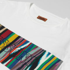 MISSONI CONTRAST PANEL LOGO T-SHIRT WHITE