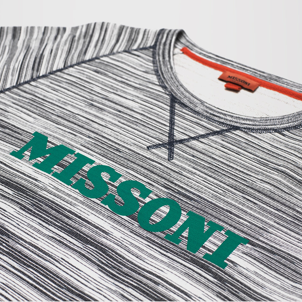 MISSONI PRINTED LOGO JUMPER BLACK/WHITE