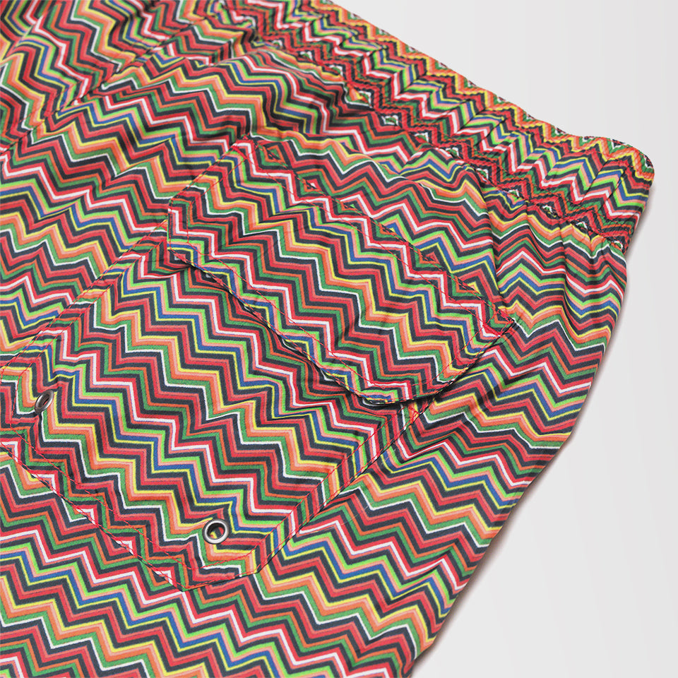 MISSONI CHEVRON PATTERN SWIMMING SHORTS ORANGE