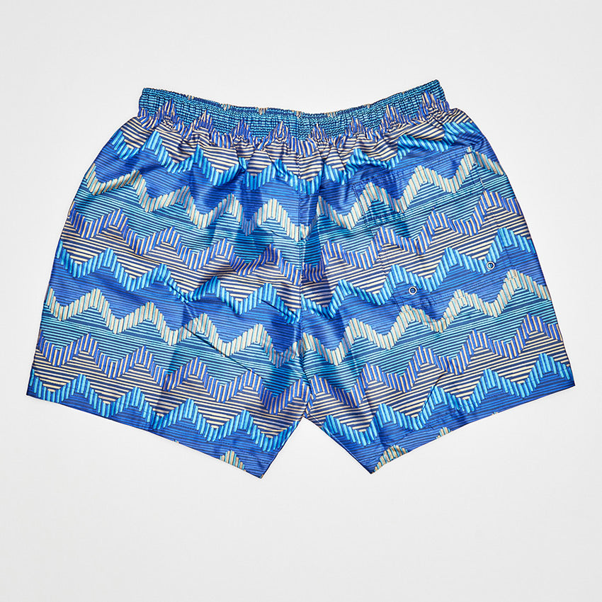 MISSONI ZIGZAG SWIMMING SHORT BLUE