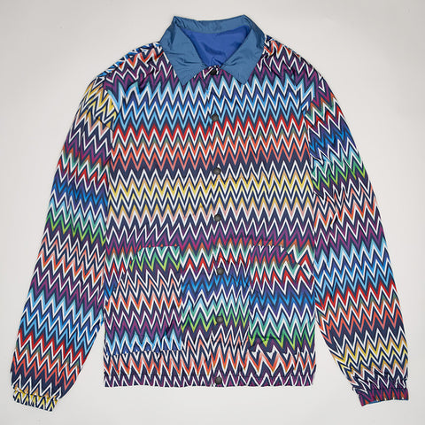MISSONI PRINTED REVERSIBLE WINDBREAKER JACKET BLUE/MULTI