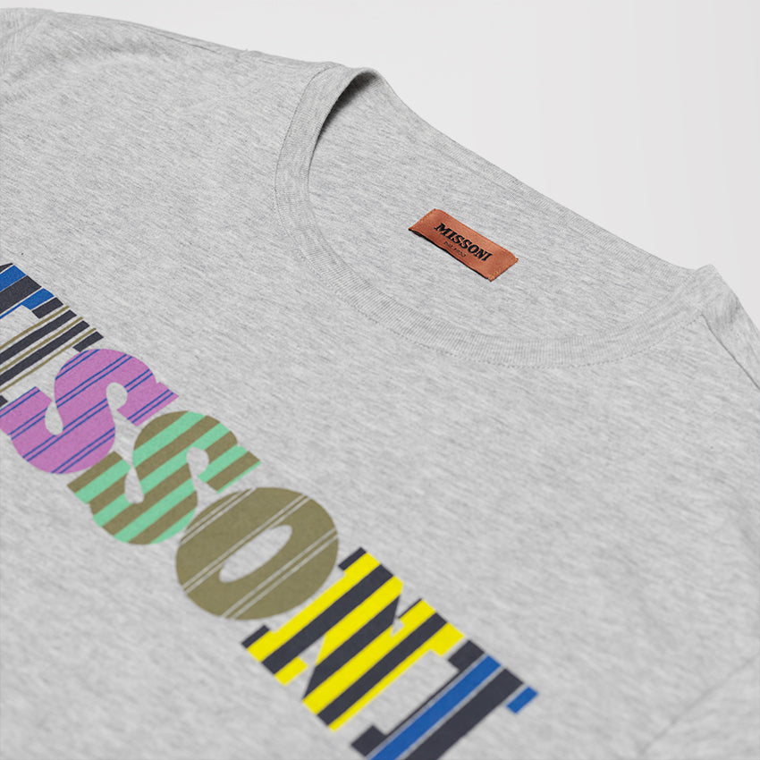 MISSONI LOGO PRINT T-SHIRT GREY