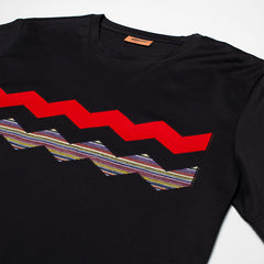 MISSONI ZIG ZAG T-SHIRT BLACK