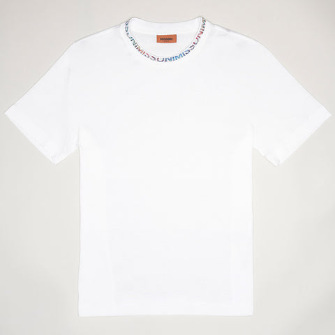 MISSONI NECK LOGO T-SHIRT WHITE