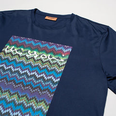 MISSONI CHEVRON-PRINT T-SHIRT BLUE