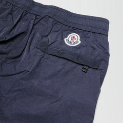 MONCLER PANTALONE NYLON TECHNIQUE TROUSERS BLUE