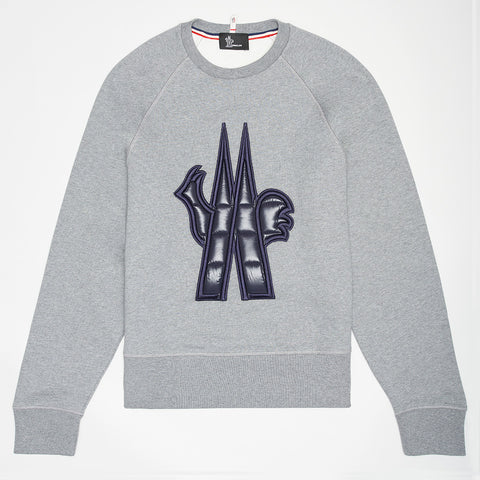 MONCLER GRENOBLE LOGO PATCH SWEATSHIRT
