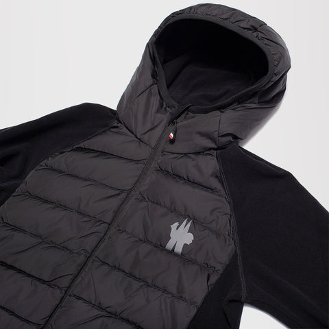 MONCLER GRENOBLE PADDED CARDIGAN JACKET BLACK