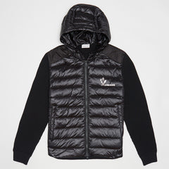 MONCLER KNITTED DOWN-FILLED SHELL JACKET BLACK
