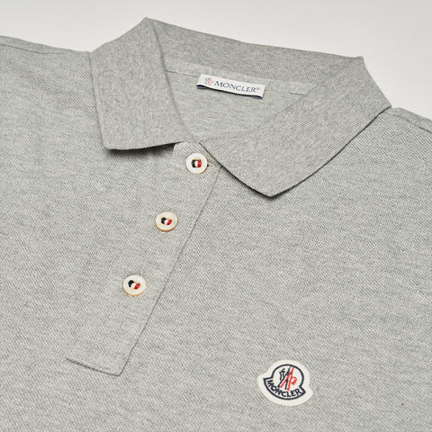 MONCLER LOGO POLO GREY