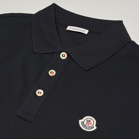 MONCLER LOGO POLO BLUE