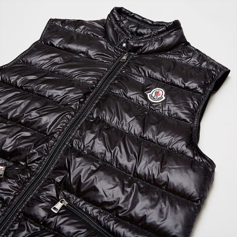 MONCLER GUI DOWN-FILLED PADDED GILET BLACK
