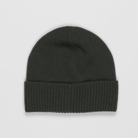 MONCLER LOGO PATCH BEANIE GREEN