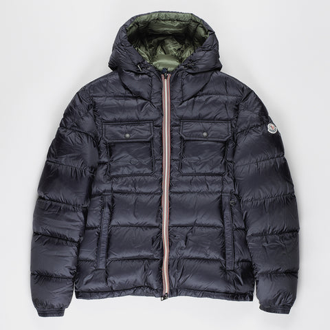 MONCLER MORANE QUILTED DOWN COAT NAVY