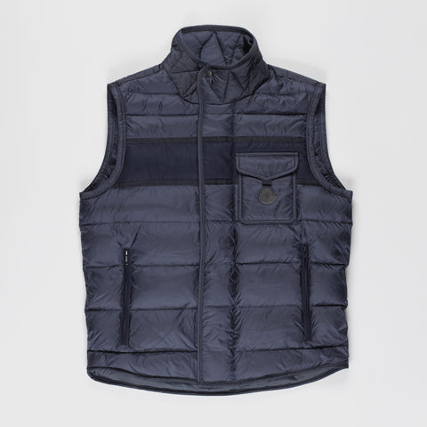 MONCLER ATHOS PADDED GILET BLUE