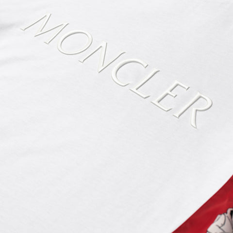 MONCLER LOGO PATCH T-SHIRT WHITE