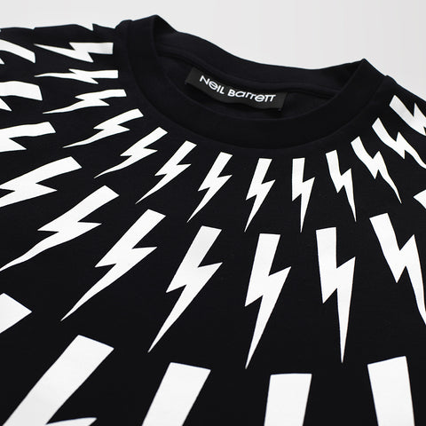 NEIL BARRETT LIGHTNING BOLT T-SHIRT BLACK